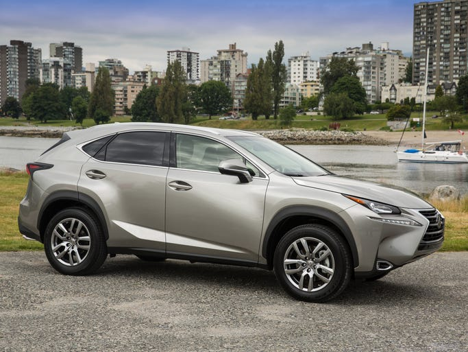 Lexus NX, the luxury brand's new small crossover, has a long nose. It will come in either a turbocharged or hybrid version.