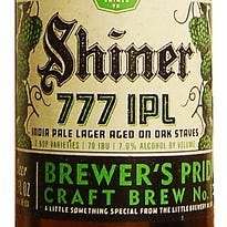 Beer Man: Shiner 777 is a treat if you like it hoppy