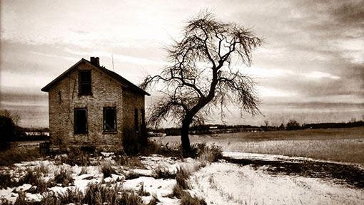 """Abandoned,"" photograph by Arlene Stanger, part of the ""New Guard"" exhibit at Meadows Art Gallery in Sister Bay."