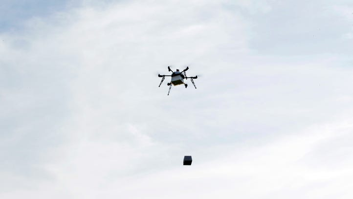 Egg dropping drone for Easter in Cherry Hill