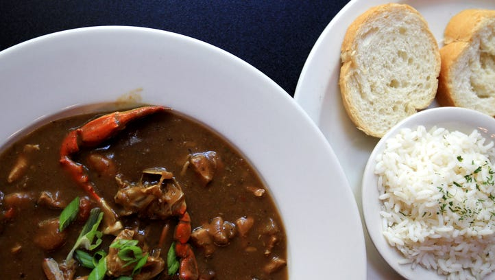 The seafood gumbo at Deja Vu on Main Street features