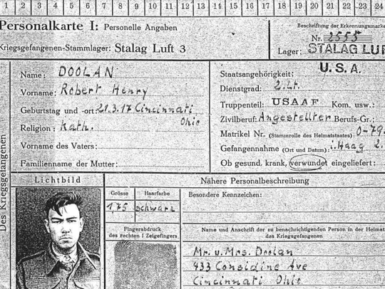 Doolan's prisoner identification card.