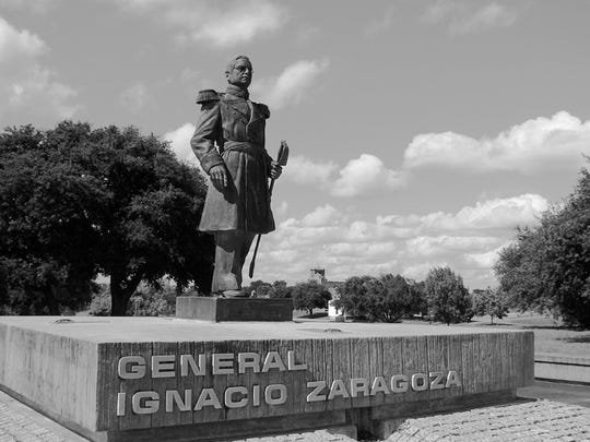 A statue in Gen. Ignacio Zaragoza,s hometown of Goliad honors him. Chasing the French from Mexico prevented them from supporting the Confederacy during the Civil War.