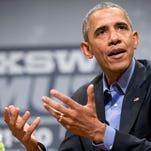 President Barack Obama speaks at the South by Southwest Festival (SXSW) on March 11 in Austin, Texas.