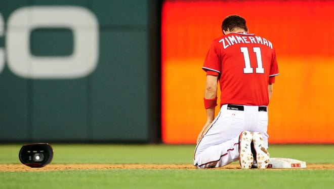 Ryan Zimmerman and the Nationals have gone from World Series favorites to 14 1/2 games behind the Braves in the NL East.