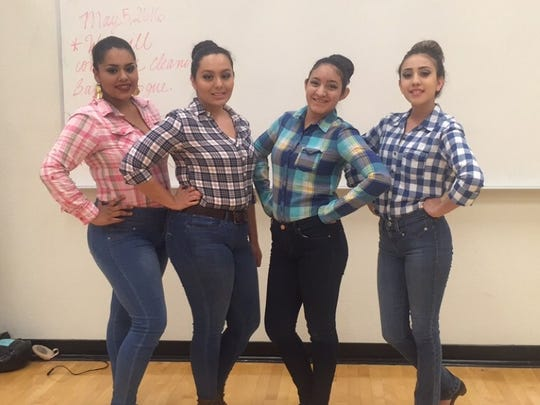 Tracie Saavedra Buckaloo, from left, Ana Perches, Liseth Moran and Jesicca Corral