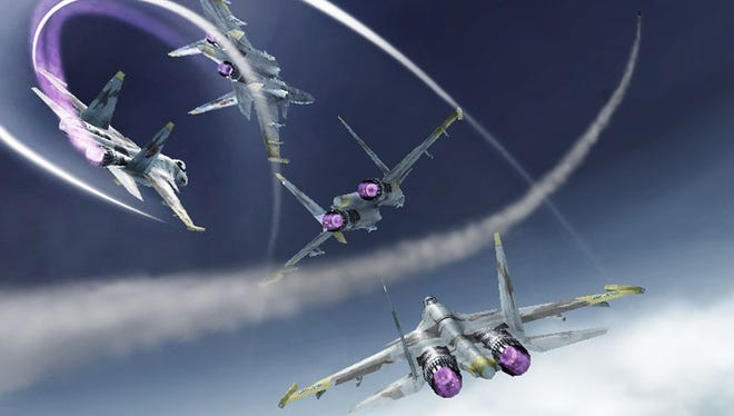 "Pull off fancy aerial maneuvers in ""Ace Combat Assault Horizon Legacy+"" for the Nintendo 3DS."