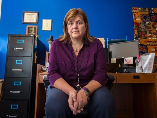 Jackie Corbally, seen on Monday, November 14, 2016, is Burlington's opioid policy coordinator. Her office is in the Burlington Police Department.