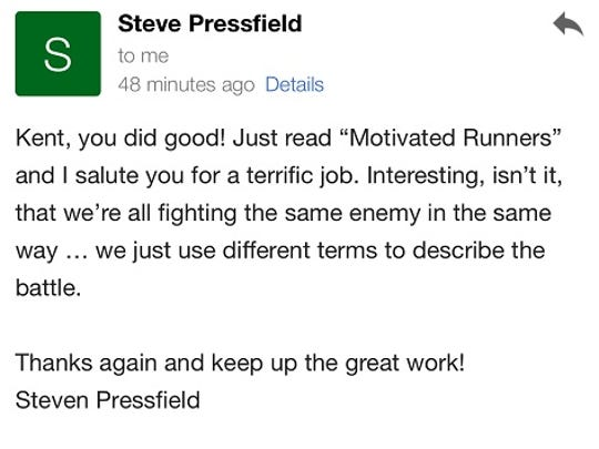 New York Times best selling author Steve Pressfield
