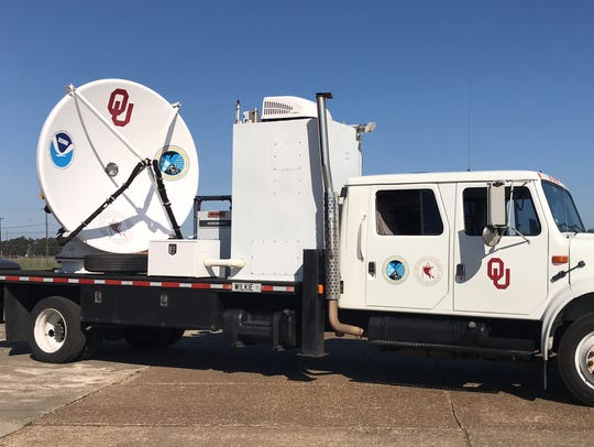 The University of Oklahoma's mobile radar was at Monroe