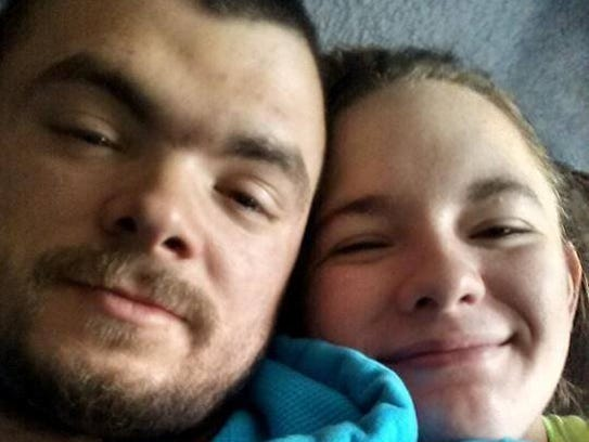 Chris Ford and Nicole Wismer before he was diagnosed