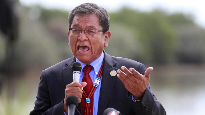 Navajo Nation President Russell Begaye used his line-item veto authority to eliminate approximately $8.3 million in appropriations from the tribe's fiscal year 2017 budget.