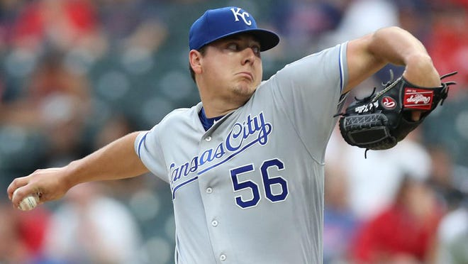 Kansas City Royals pitcher Brad Keller throws against the Cleveland Indians earlier this season.