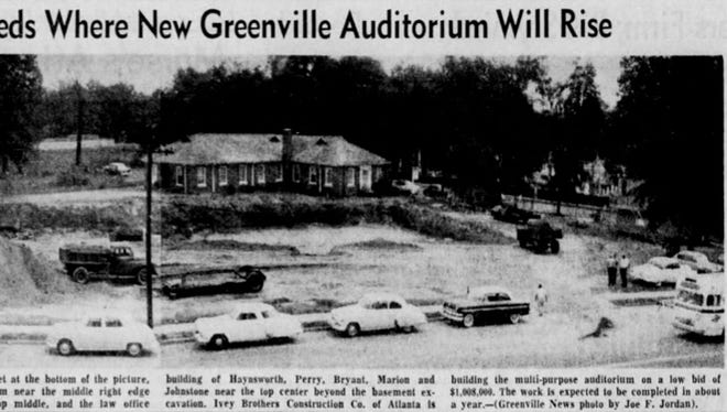 A newspaper clipping from The Greenville News on May 23, 1957.