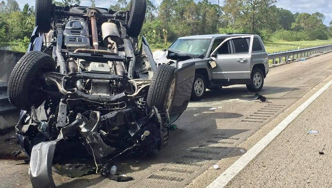 Crash on Turnpike in St. Lucie County Nov. 5, 2017.