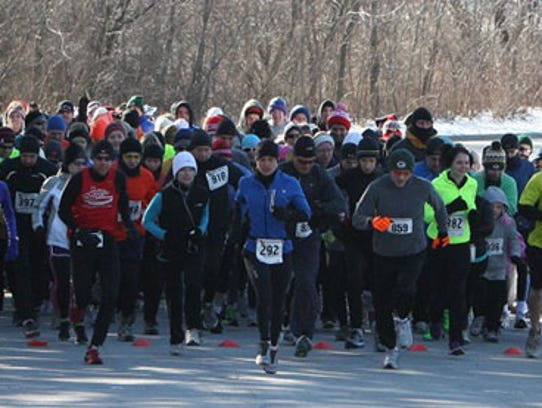 A New Years Day run through Grant Park that ends with
