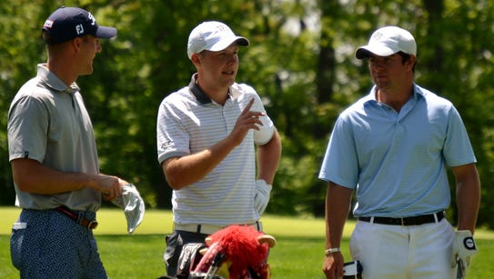 Garrett Rank (left), Paul McBride and Cameron Young
