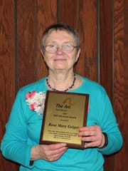 Pictured being honored with the Self-Advocate Award is Rose Mary Geiger.