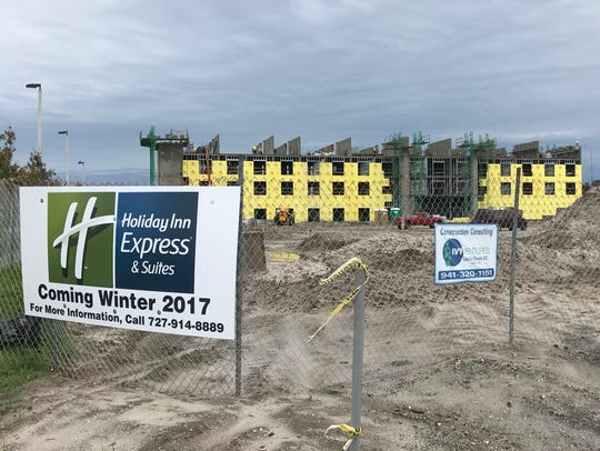 A Holiday Inn Express & Suites is nearing completion