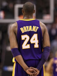 Kobe Bryant of the Los Angeles Lakers.
