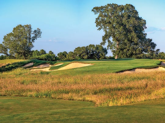 The Mossy Oak Golf Club course sports 103 bunkers, all using sand pulled from the local riverbed.