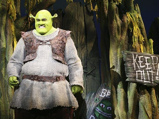 """Brian d'Arcy James in """"Shrek the Musical."""""""