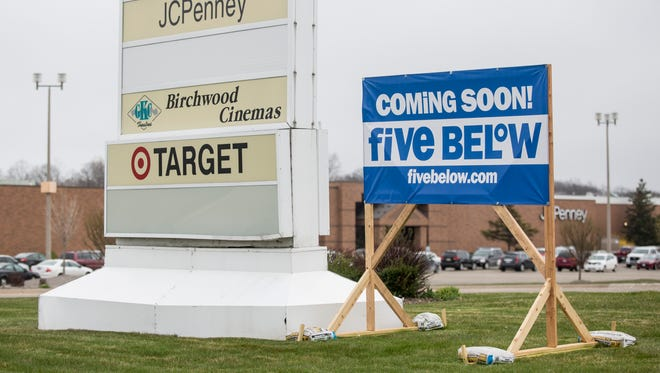 A Five Below store is slated to open at the Birchwood Mall in Fort Gratiot.