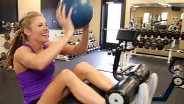 Miss Louisiana works out in preparation for Miss America