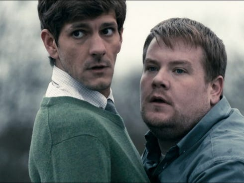 'The Wrong Mans' is available for streaming on Hulu. Mathew Baynton and James Corden star.