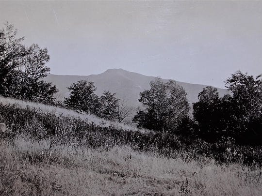 A 1934 National Park Service photo on Flynn Hill in Underhill Center shows Mount Mansfield, which would have been a major part of the Green Mountain National Park.