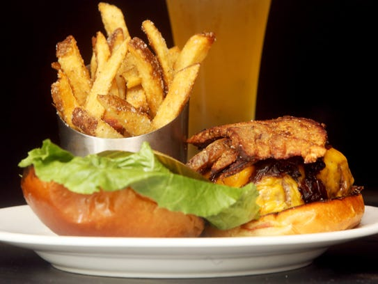 A burger called Kermit's Favorite at The Tapp in Tarrytown,