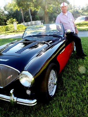 Peter Sales 1956 Austin Healey