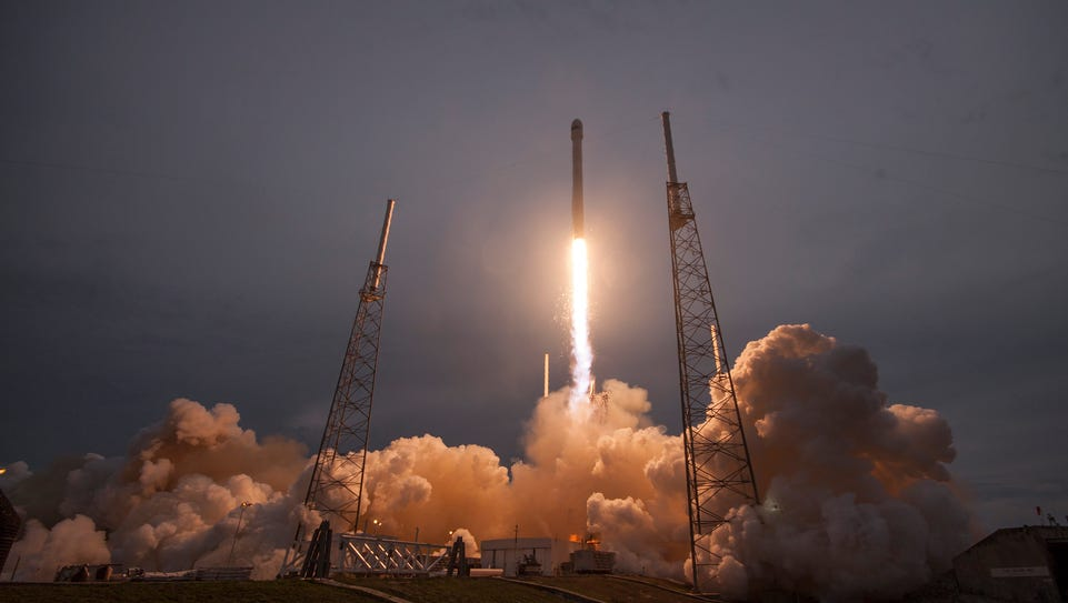 On April 27, 2015, a SpaceX Falcon 9 lifted off from