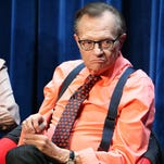 Television/radio personality Larry King speaks onstage during a Q&A following The Paley Center For Media's presentation of 'OJ: The Trial Of The Century Twenty Years Later' at The Paley Center for Media on June 12, 2014 in Beverly Hills, California.