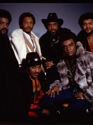 The Isley Brothers, clockwise from left: Marvin Isley, Chris Jasper, Rudolph Isley, Kelly Isley, Ronald Isley, Ernie Isley.