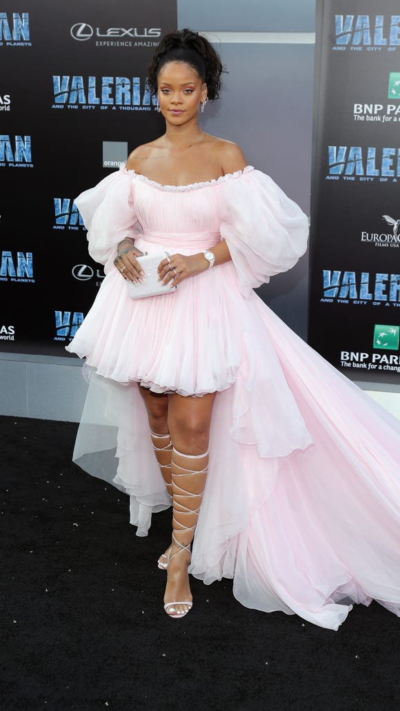 Are those sleeves a nod to Rihanna's 'Valerian' character,