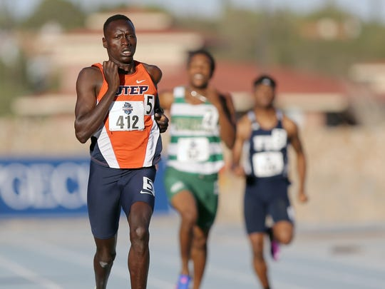 UTEP's Emmanuel Korir wins his heat of the 400-meter dash Saturday to earn a spot in Sunday's final.
