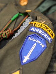 U.S. Army Airborne Ranger patches remain sewn onto