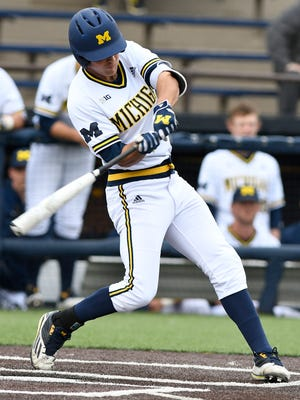 Cody Bruder leads Michigan in hitting with a .384 average.