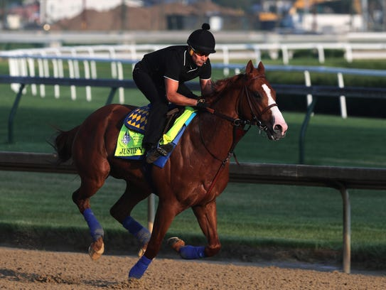 Kentucky Derby and Preakness winner Justify and exercise