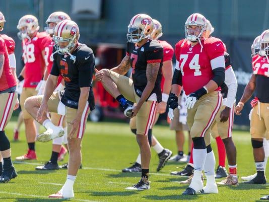 USP NFL: SAN FRANCISCO 49ERS-TRAINING CAMP S FBN USA CA