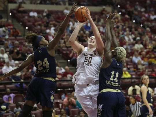 Chatrice White became the first FSU player to go 10 of 10 from the free throw line in program history in Sunday's 64-61 win over Georgia Tech.