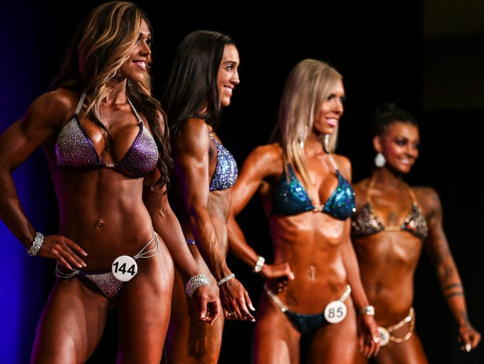 The bikini competition had more than a dozen competitors
