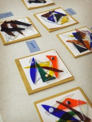 Debbie Malone's glass camp students create stained