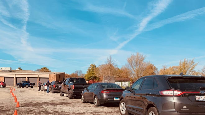 The free COVID-19 drive thru test sight in Canton had a lot of folks show up, but things were very much streamlined and went smoothly.