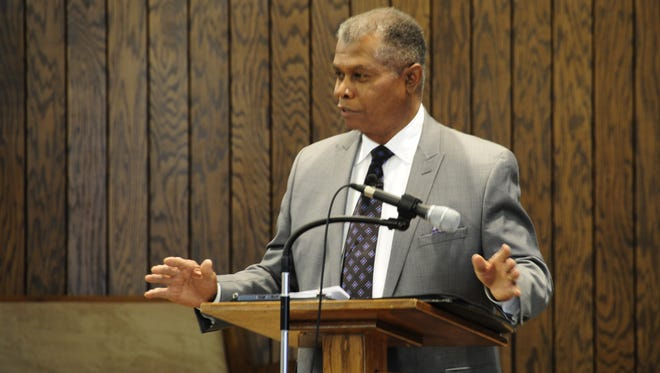 """Former Kentwood mayor and state senator Bill Hardiman served as the guest speaker at the 12th Annual """"One in Christ"""" Community Service on Jan. 14, 2018, in Port Huron."""