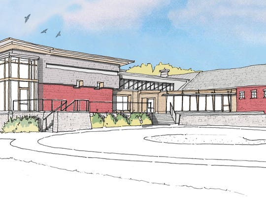 A rendering of what would be the new entrance of Vermont Public Radio, which is embarking on an $8 million expansion.