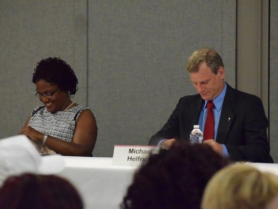 York City Mayor Kim Bracey and York City Council president