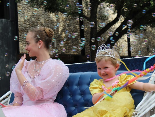 Life is tough when you're royalty. Rosie Evans, right,