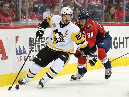 USP NHL: STANLEY CUP PLAYOFFS-PITTSBURGH PENGUINS S HKN WSH PIT USA DC